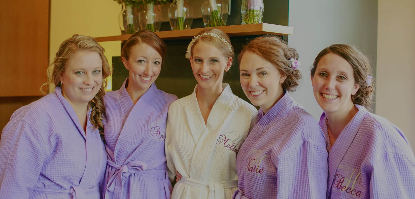 bridal party at the Spa